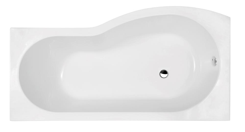 Premier BMP1785L Left Hand Shower Bath (1700mm) - B-Shape Shower ...